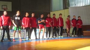 Die Mannschaft vor dem Kampf