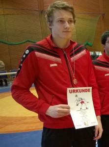 Nach dem Erringen der Saarlandmeisterschaft im Freien Stil
